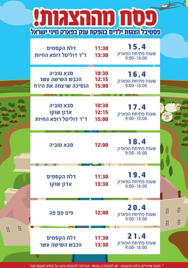 אטרקציות לילדים בפסח- מיני ישראל